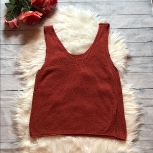 Madewell Rustic Orange Knit V-neck Tank